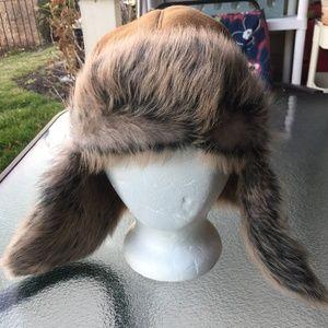 UGG TOSCANA LONG PILE TRAPPER SHEEPSKIN HAT O/S